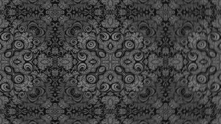 Photo pour Abstract ornate decorative background. Hypnotic trendy kaleidoscope. 3d rendering - image libre de droit