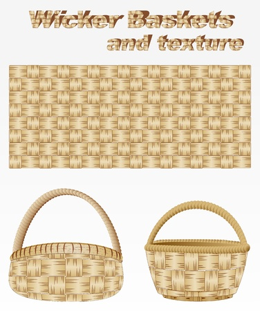Wicker basket and texture