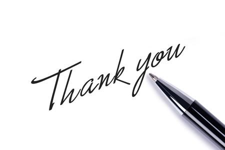 Foto für Thank you note on white background - Lizenzfreies Bild