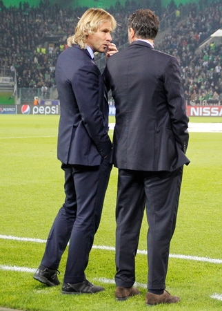 Pavel Nedvd During The heating of the Champion League match Borussia Monchengladbach - Juventus Austrade borussia - Park November 3, 2015, Monchengladbach, Germany