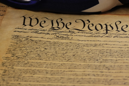 Preamble to the Constitution of United States Historical Document - We The People Bill of Rights