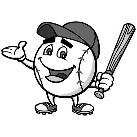 Baseball Mascot Illustration