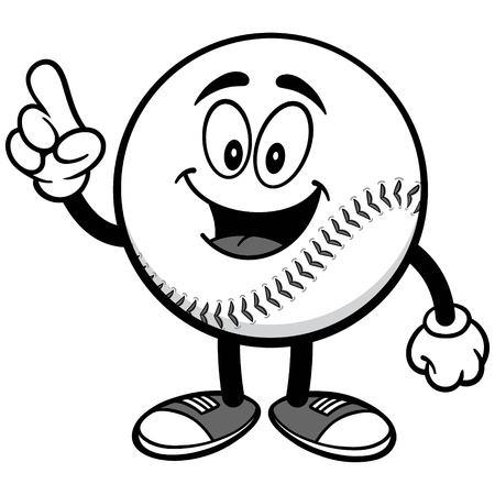 Baseball Mascot Talking Illustration