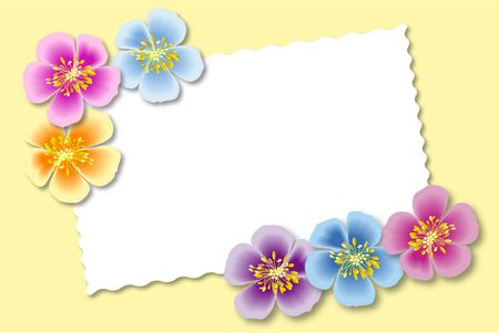 Flower with a blank card for your text.