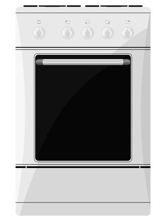 gas cooker. vector