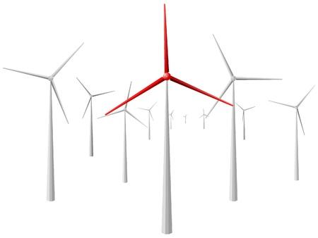 windmill. vector