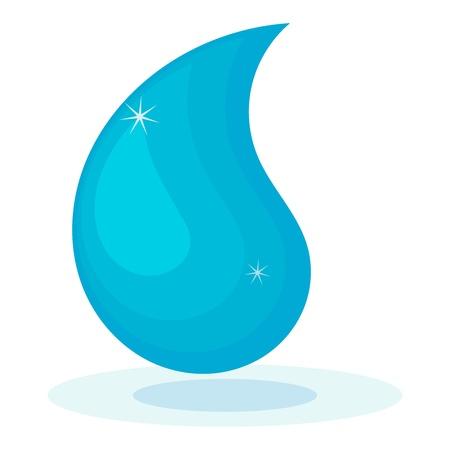 Vector illustration of cartoon water drop
