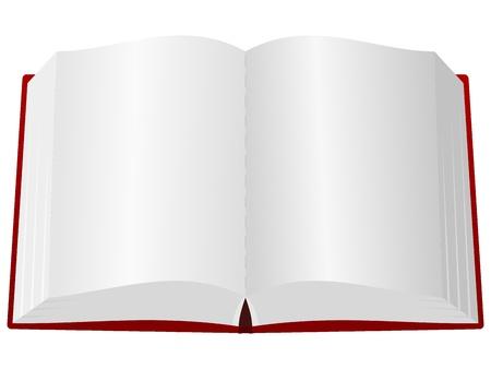 Illustration pour An open book in the red cover - image libre de droit