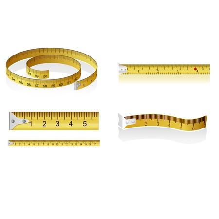 Set of measuring tapes