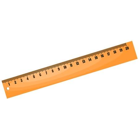 Cartoon wood ruler.
