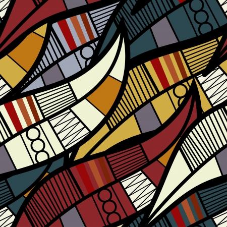 Ilustración de Seamless texture with floral elements - Imagen libre de derechos