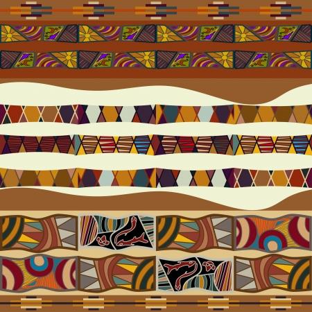 Illustration pour Seamless texture of African - image libre de droit