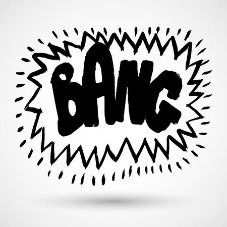 Illustration pour Comic explosion bang - image libre de droit