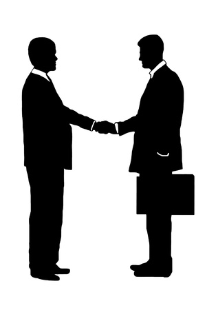 businessmen shaking hands silhouettes