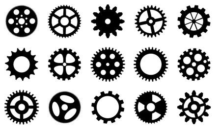 gear wheels set isolated