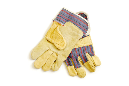 Working gloves isolated on white