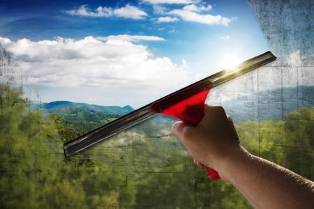 Photo pour Clean Window - image libre de droit