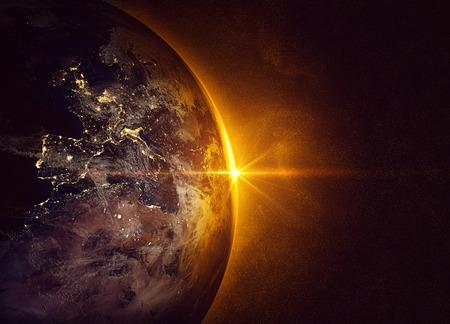 Sunrise and earth
