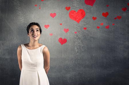 Photo pour woman in love - image libre de droit