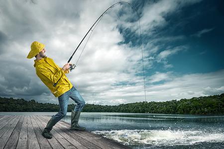 Photo pour Fisherman - image libre de droit