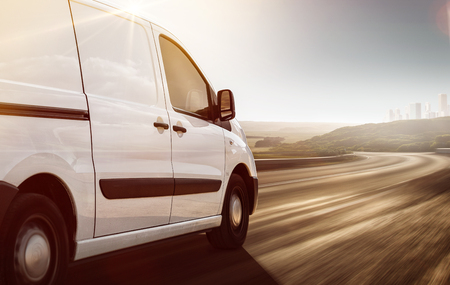 Photo for Delivery Van on its way - Royalty Free Image