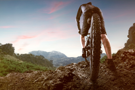 Mountainbiker in the Mountains