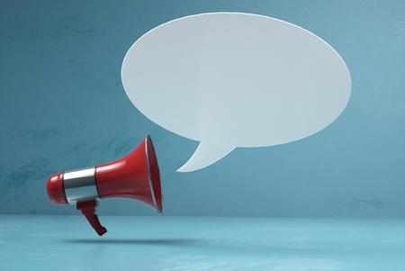 Photo pour Megaphone with speech bubble - image libre de droit