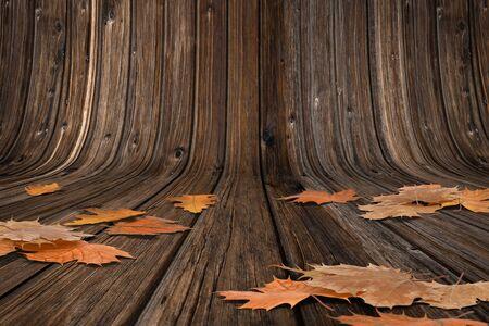 Wooden Autumn Background