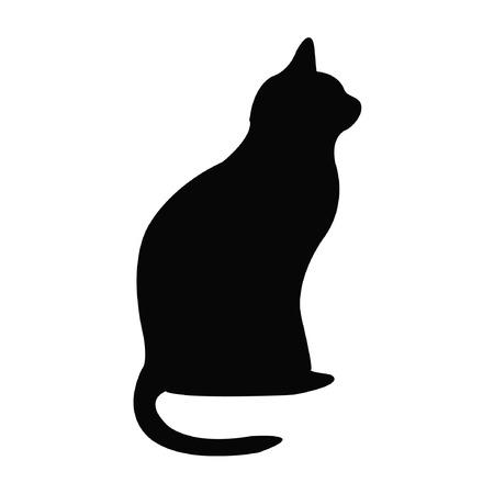 Ilustración de Black silhouette of cat - Imagen libre de derechos