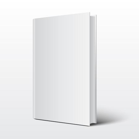 Illustration pour Blank book cover over on white background vector - image libre de droit