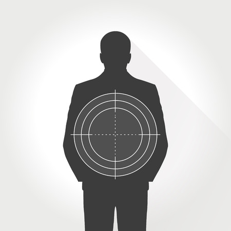 Target for shooting set, man. Dartboard, archery. vector illustration.