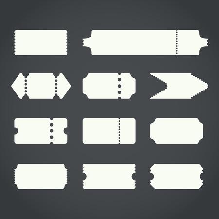Illustration pour Cinema vector tickets isolated. Realistic front view illustration. - image libre de droit