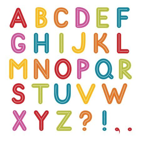 font, A to Z alphabet