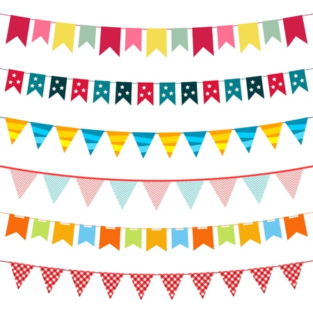 Illustration for Vector bunting set - Royalty Free Image