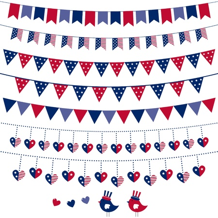 American flag themed bunting set