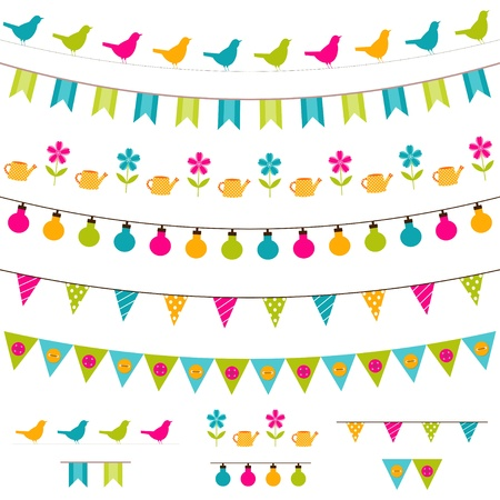 Illustration for Bunting and garland set - Royalty Free Image