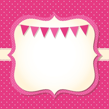 Baby girl arrival or shower card