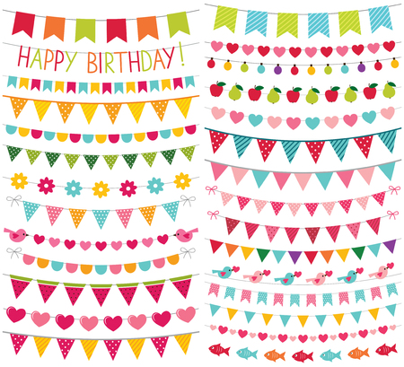 Illustration for Colorful birthday and party decoration - Royalty Free Image