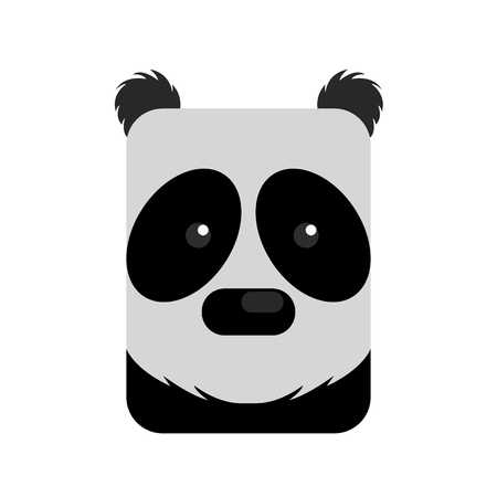 Isolated abstract panda on a white background, Vector illustration