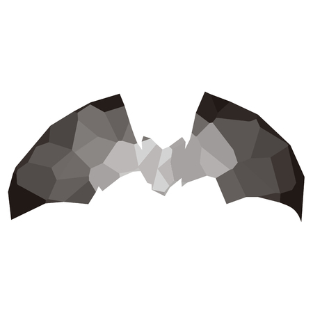Isolated colored low poly bat, Vector illustration