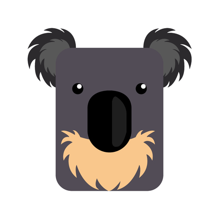 Isolated abstract koala on a white background, Vector illustration