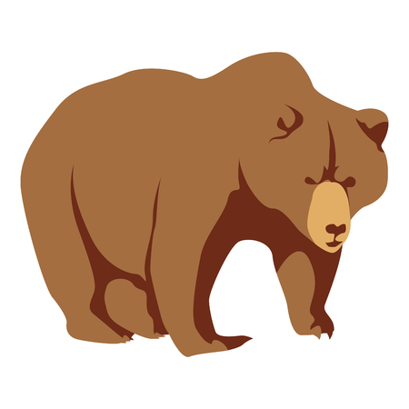 Isolated bear on a white background, Vector illustration