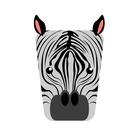 Isolated abstract zebra on a white background, Vector illustration