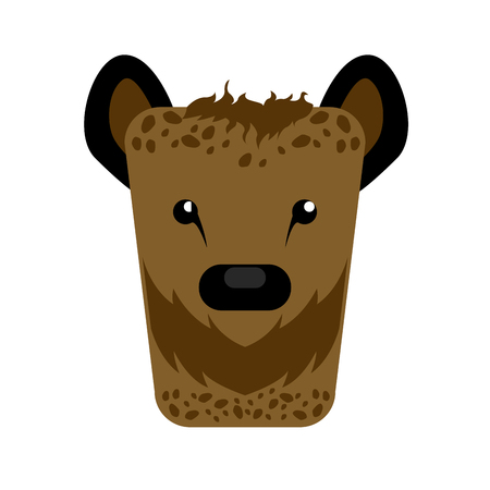 Isolated abstract hyena on a white background, Vector illustration