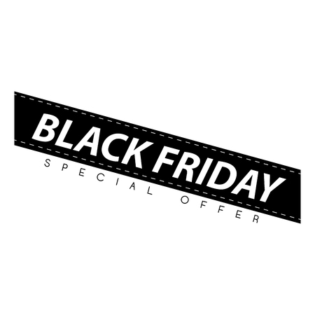 Black friday banner on a white background, vector illustration