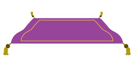 Ilustración de Isolated purple magic carpet - Imagen libre de derechos
