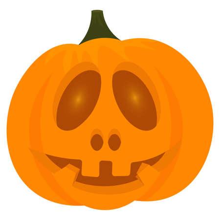 Illustration pour Scary halloween pumpkin - image libre de droit