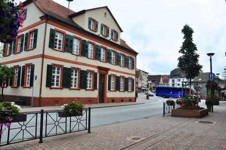 central street in Dahn , Germany 2015