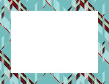 Illustration for Plaid Tartan Frame to use as a background - Royalty Free Image