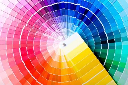 Foto de Close-up view of a color chart used for paint selection - Imagen libre de derechos